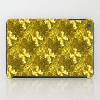 bows iPad Cases featuring Golden Bows  by Elena Indolfi