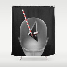 café mort Shower Curtain