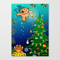 The Christmas Angel and the Missing Star Canvas Print