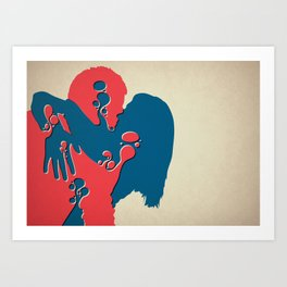When Two Become One - Kiss Art Print