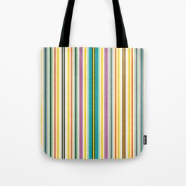retro stripe Tote Bag