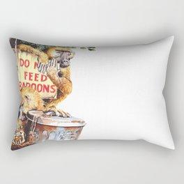 do not feed baboons Rectangular Pillow