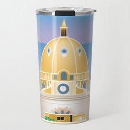 Cartagena, Columbia - Skyline Illustration by Loose Petals Travel Mug