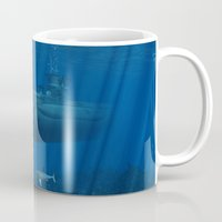 submarine Mugs featuring U99 Submarine by Simone Gatterwe