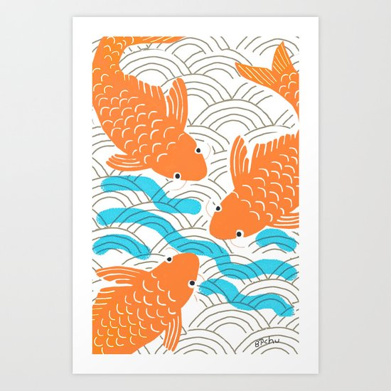 Lucky Fish Art Print