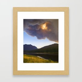 Smoke in the Air - Bozeman, Montana Framed Art Print