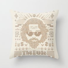 Knitted Dude Throw Pillow
