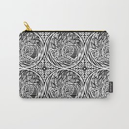 Tree motif in black in white Carry-All Pouch