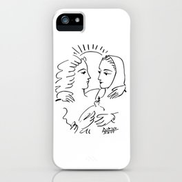 Pablo Picasso Women With A Dove 1955 T Shirt, Artwork Sketch iPhone Case