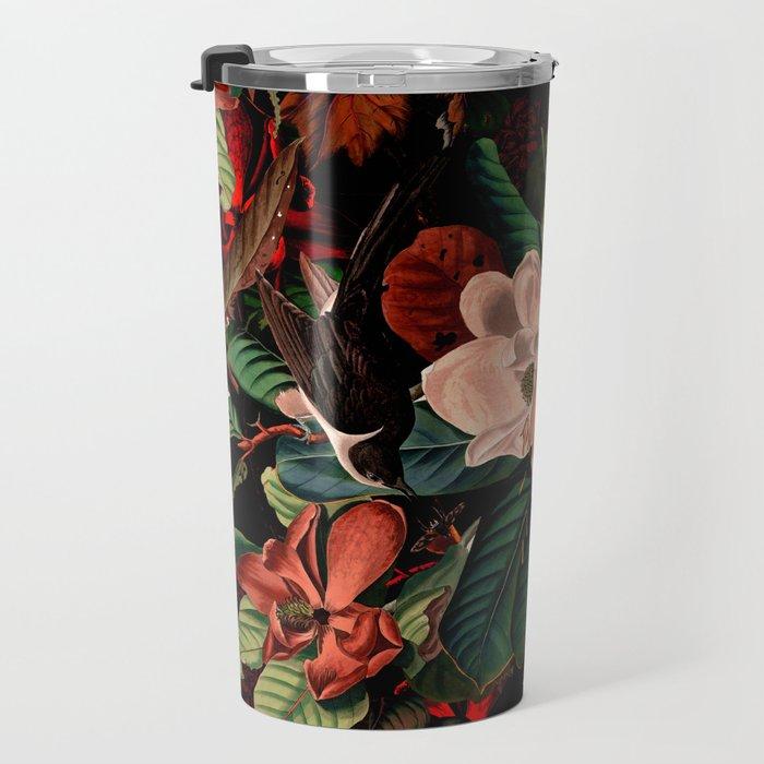FLORAL AND BIRDS XIV Travel Mug