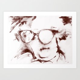 The Visionary Sepia Art Print