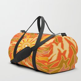 Burnt Orange Duffle Bag