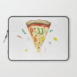 Pizza Day Slice with All the Toppings Laptop Sleeve