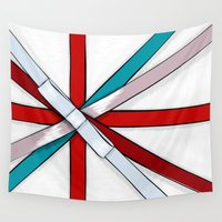 british flag Wall Tapestries featuring In the Honor of a British Flag by Tata