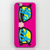 geek iPhone & iPod Skins featuring Geek by Aaron Synaptyx Fimister