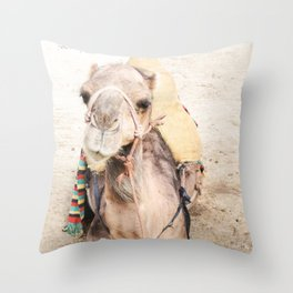 Happy Camel Throw Pillow