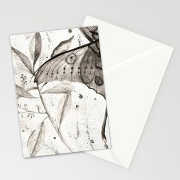 Madagascar Moon Moth Watercolor Stationery Cards