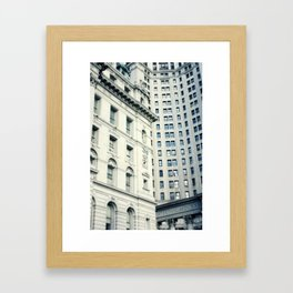 NYC Downtown Buildings, New York City Photography Framed Art Print