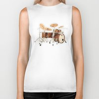 drums Biker Tanks featuring Hendrix  Drums by good music