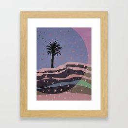 Autumnal Air around the Palm Tree Framed Art Print