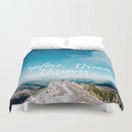 EXPLORE / DREAM / DISCOVER Duvet Cover