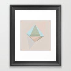 pentagonal dipyramid Framed Art Print