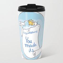 Congratulation Illustration Travel Mug