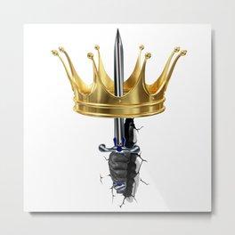 Corona lucha por el Reinado Metal Print