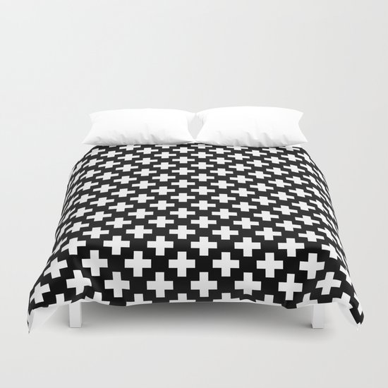 Plus black & white #2 Duvet Cover