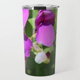 blue flowers Travel Mug