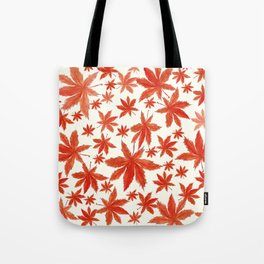 red maple leaves pattern Tote Bag