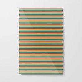 Colorful Stripe Sound Metal Print