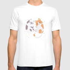 Kitty Cuddles MEDIUM White Mens Fitted Tee