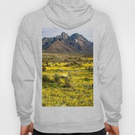 Poppies abloom along the Organ Mountains in New Mexico Hoody