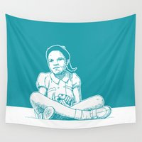 princess Wall Tapestries featuring Princess by Moose van Papendorp