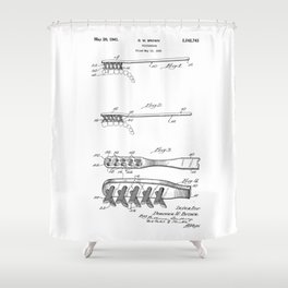 patent art Brown Toothbrush 1939 Shower Curtain