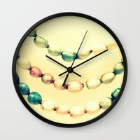 pastel Wall Clocks featuring pASTel Vintage Beads by 2sweet4words Designs