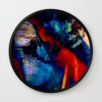 degas Wall Clocks featuring Puddle by Stephen Linhart