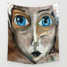 Oleo de mujer de ojos azules Wall Tapestry
