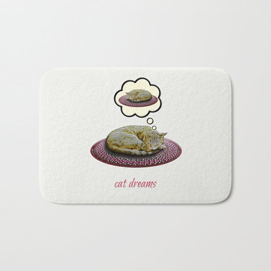Cat Dreams Bath Mat