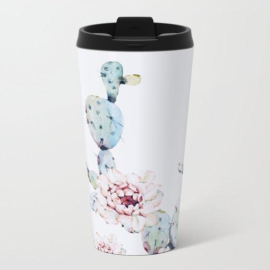 Fresh Cactus II Metal Travel Mug
