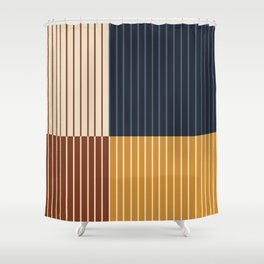 Color Block Line Abstract XIII Shower Curtain