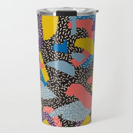 Memphis Inspired Pattern 1 Travel Mug