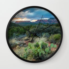 Southwest Serenade - Sunset at Sedona Arizona Wall Clock