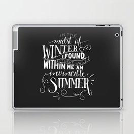 Albert Camus - In the Midst of Winter Laptop & iPad Skin