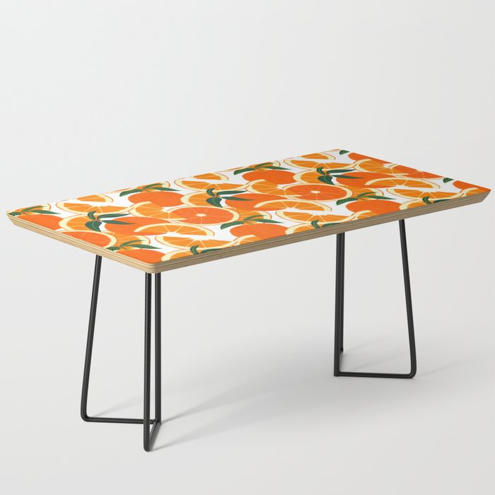 Orange Harvest - White Coffee Table