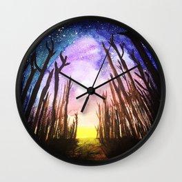 Twilight Woods Wall Clock