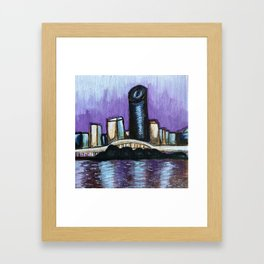Brisbane City River Framed Art Print