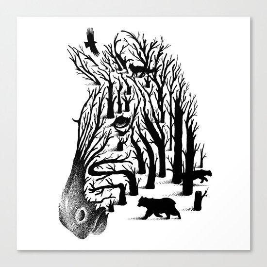 HIDDEN ANIMALS Canvas Print