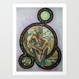 Swamp Shaman Lady Art Print